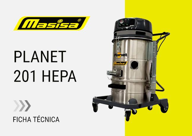 Especificaciones técnicas Planet 201 HEPA