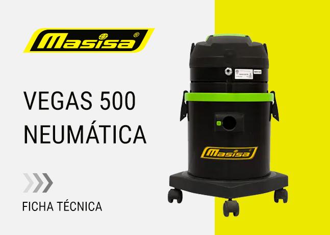 Especificaciones técnicas Vegas 500 Neumática <span>Aspiradora seco</span>