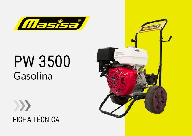 Especificaciones técnicas PW 3500 <span>Gasolina</span>