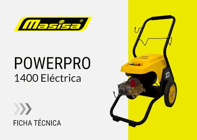 Especificaciones técnicas PowerPro 1400 <span>Eléctrica</span>
